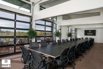 Boardroom Style Seating On The Top Floor Conference Area. One Of Several Configurations Resized